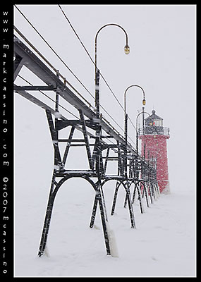 Whiteout at the South Haven Lighthouse